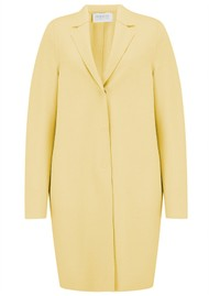 HARRIS WHARF Cocoon Coat - Pastel Yellow