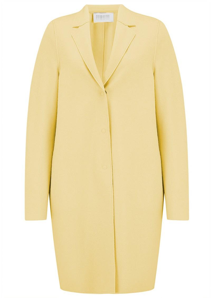 HARRIS WHARF Cocoon Coat - Pastel Yellow main image