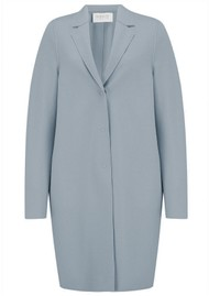 HARRIS WHARF Cocoon Coat - Grey Blue