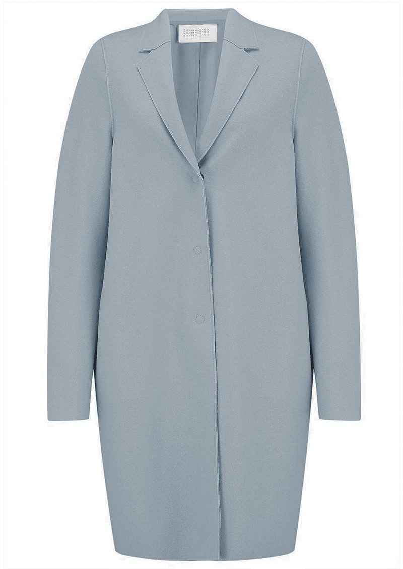 HARRIS WHARF Cocoon Coat - Grey Blue main image