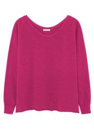 American Vintage Sonoma Long Sleeve T-Shirt - Bougainvillea