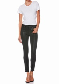 Paige Denim Hoxton Ankle Luxe Coating Jeans - Black Fog