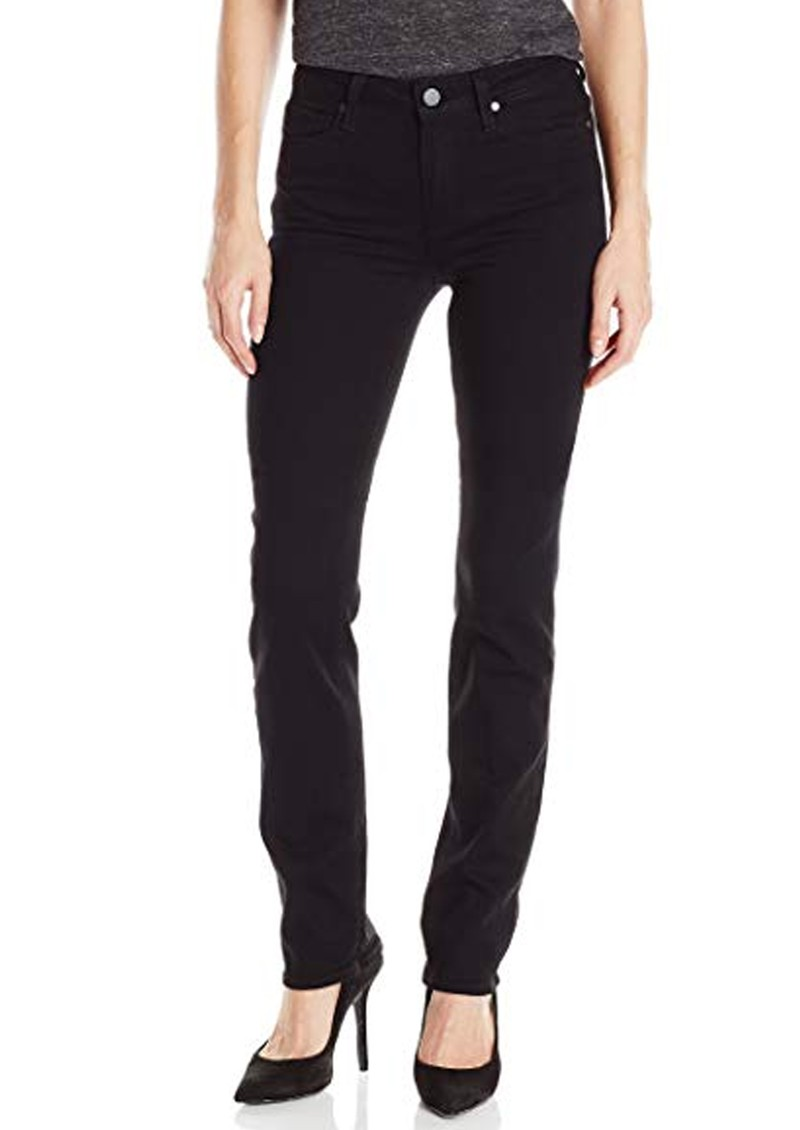 Paige Denim Hoxton High Rise Straight Leg Jeans - Black Shadow main image