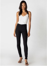 J Brand Maria High Rise Photo Ready Skinny Jeans - Seriously Black