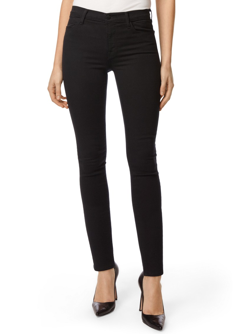 J Brand Maria High Rise Photo Ready Skinny Jeans - Seriously Black main image