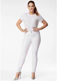 J Brand Maria High Rise Skinny Jeans - White