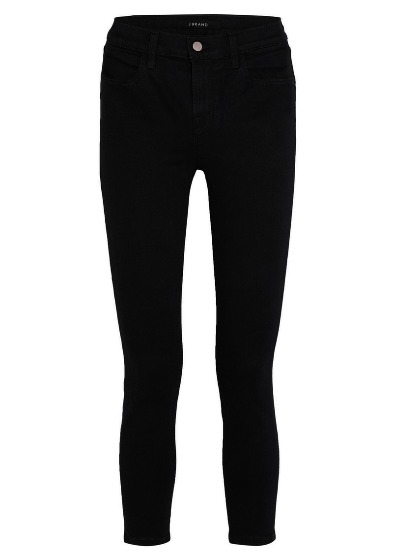 J Brand Alana High Rise Cropped Super Skinny Jeans - Seriously Black main image