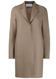 HARRIS WHARF Bicolour Cocoon Coat - Taupe