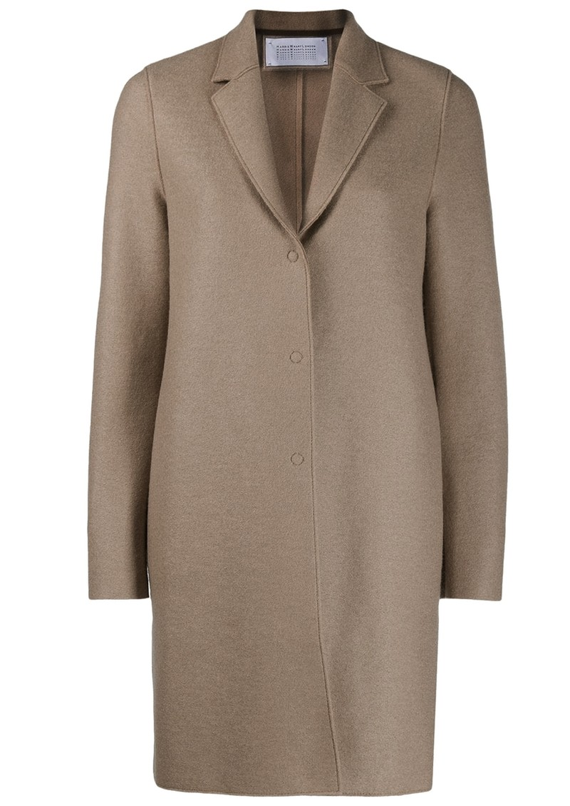 Bicolour Cocoon Coat - Taupe main image
