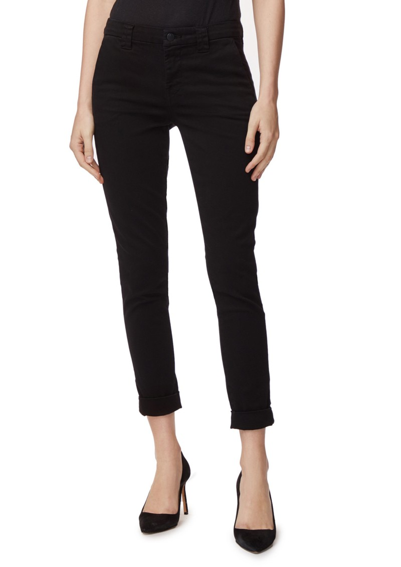 J Brand Paz Slim Tapered Luxe Sateen Trouser - Black main image