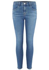 J Brand Alana High Rise Cropped Super Skinny Jeans - Cerulean