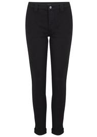 J Brand Paz Slim Tapered Luxe Sateen Trouser - Black