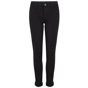 Paz Slim Tapered Luxe Sateen Trouser - Black