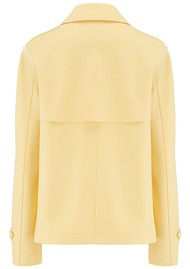 HARRIS WHARF Cropped Trench Jacket - Pastel Yellow