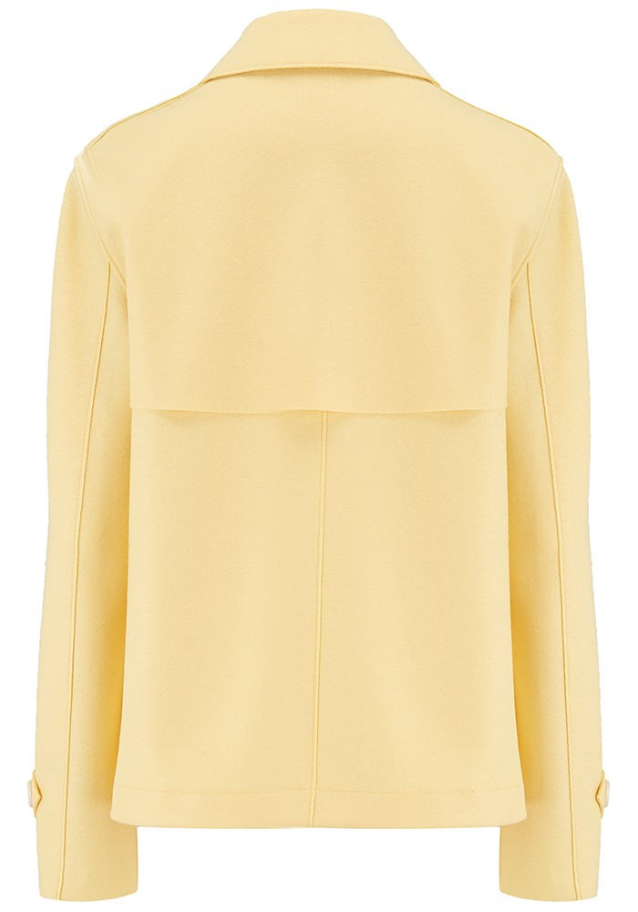 HARRIS WHARF Cropped Trench Jacket - Pastel Yellow main image