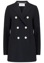 HARRIS WHARF Long D.B Blazer - Black