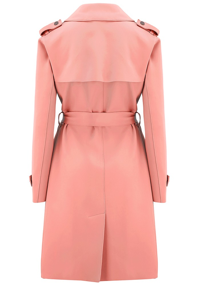 HARRIS WHARF Soft Trench Coat - Nude main image