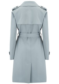 HARRIS WHARF Soft Trench Coat - Powder Blue