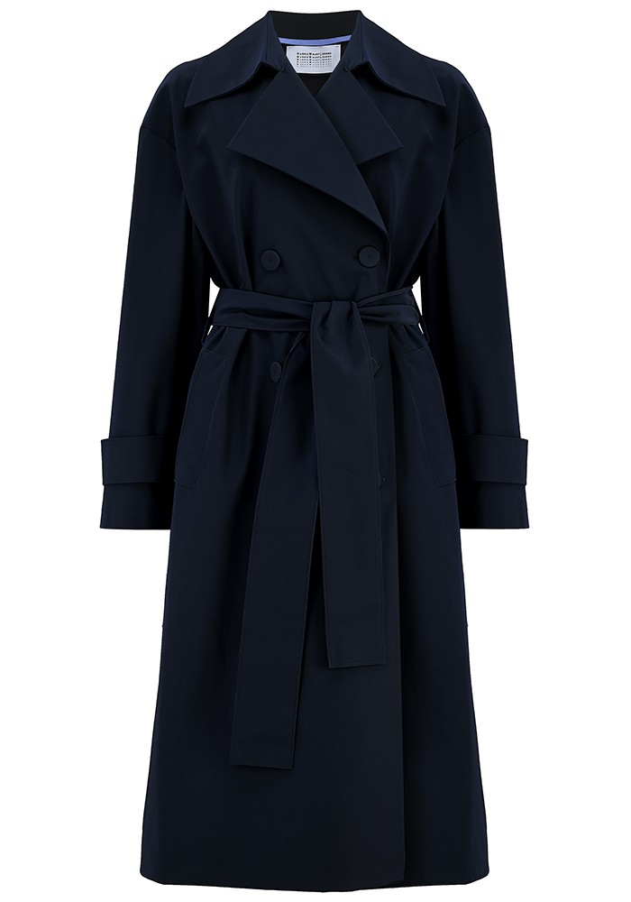 Oversized Water Repellent Trench Coat - Dark Blue main image