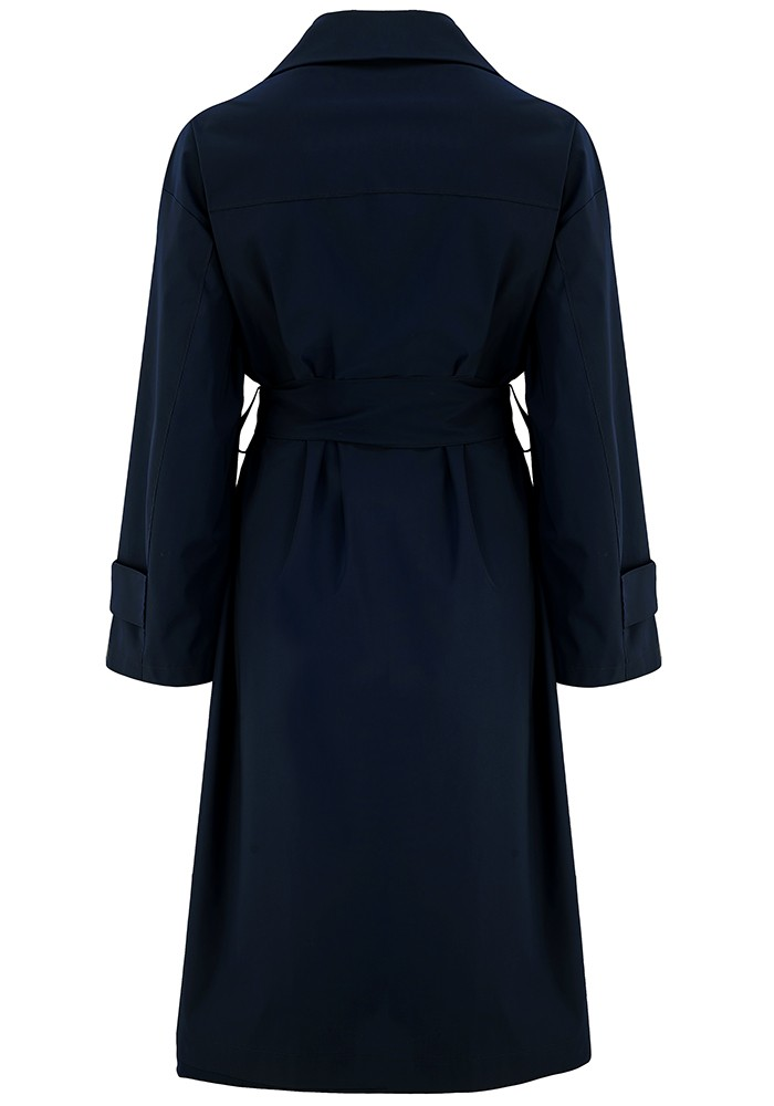 HARRIS WHARF Oversized Water Repellent Trench Coat - Dark Blue main image