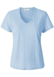 LEVETE ROOM Any Short Sleeve T-Shirt - Light Blue
