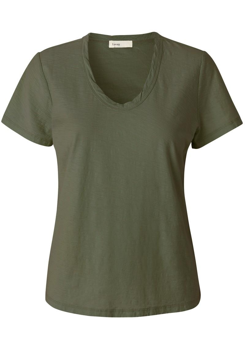 LEVETE ROOM Any Short Sleeve T-Shirt - Khaki main image