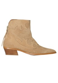 SHOE THE BEAR Miquita Suede Ankle Boot - Sand
