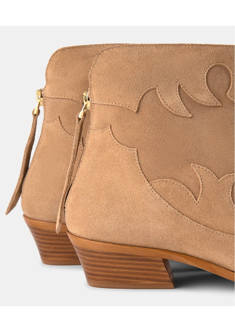 SHOE THE BEAR Miquita Suede Ankle Boot - Sand main image