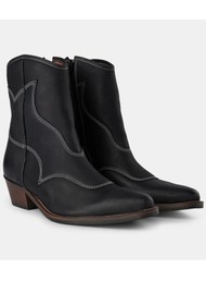 SHOE THE BEAR Arietta Western Leather Boot - Black