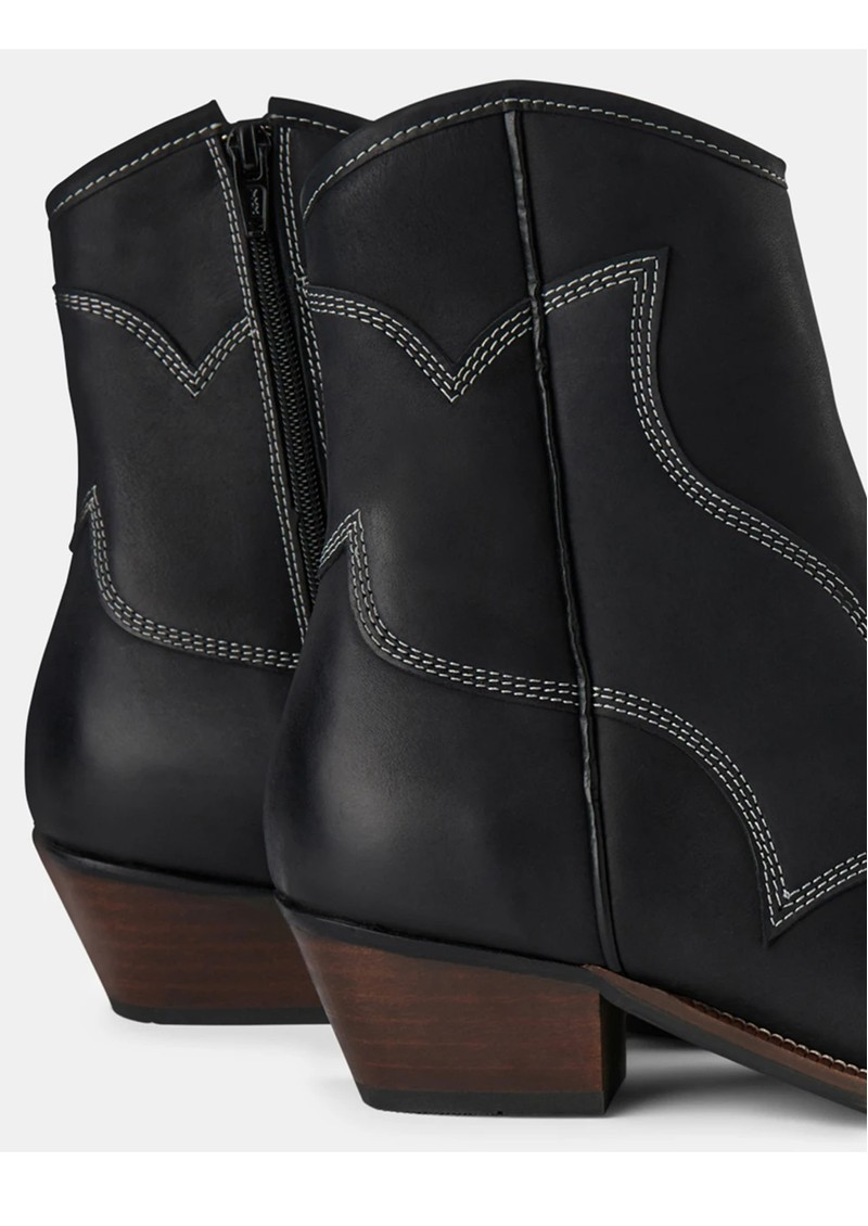 SHOE THE BEAR Arietta Western Leather Boot - Black main image