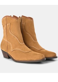 SHOE THE BEAR Arietta Western Suede Boot - Camel