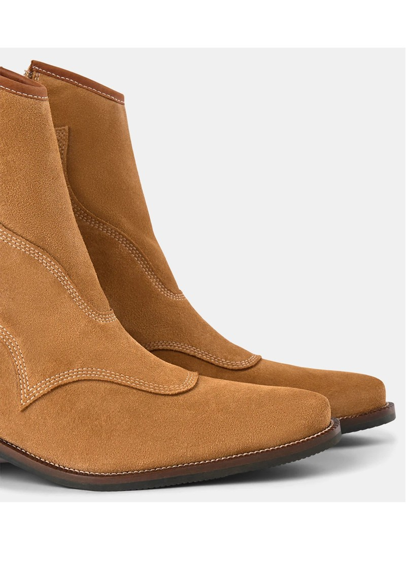 SHOE THE BEAR Arietta Western Suede Boot - Camel main image