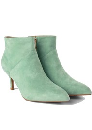 SHOE THE BEAR Valentine Suede Heel Shoe Boot - Mint