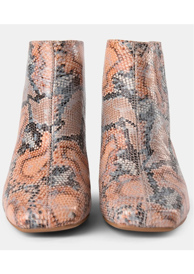 SHOE THE BEAR April Snake Ankle Boot - Natural main image