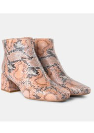 SHOE THE BEAR April Snake Ankle Boot - Natural
