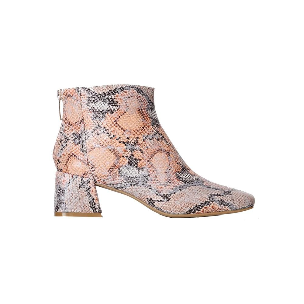 April Snake Ankle Boot - Natural