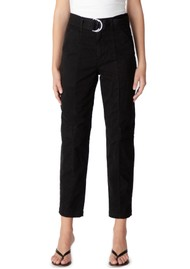 J Brand Athena  Surplus High Rise Cigarette Pant - Black