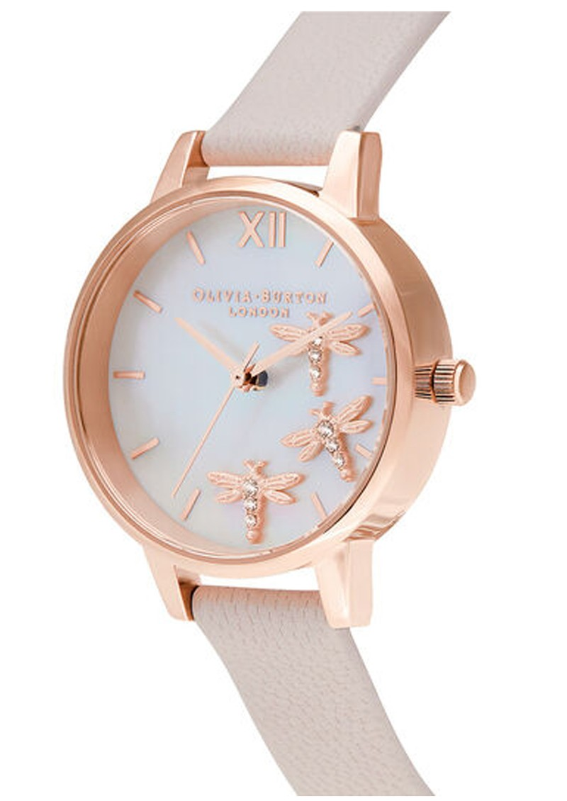 Olivia Burton Dancing Dragonfly Midi Dial Watch - Blush, Pink & Rose Gold main image