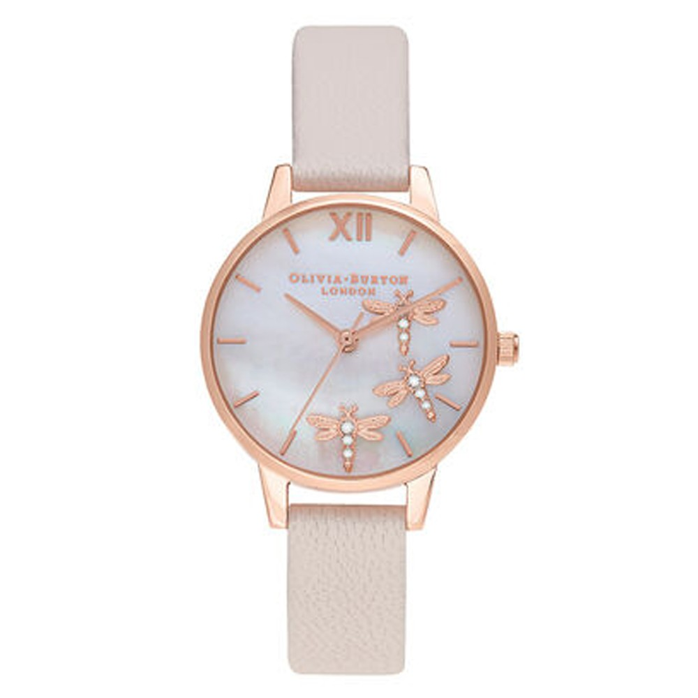 Dancing Dragonfly Midi Dial Watch - Blush, Pink & Rose Gold