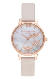 Olivia Burton Dancing Dragonfly Midi Dial Watch - Blush, Pink & Rose Gold