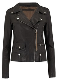MDK Seattle New Thin Leather Jacket - Black