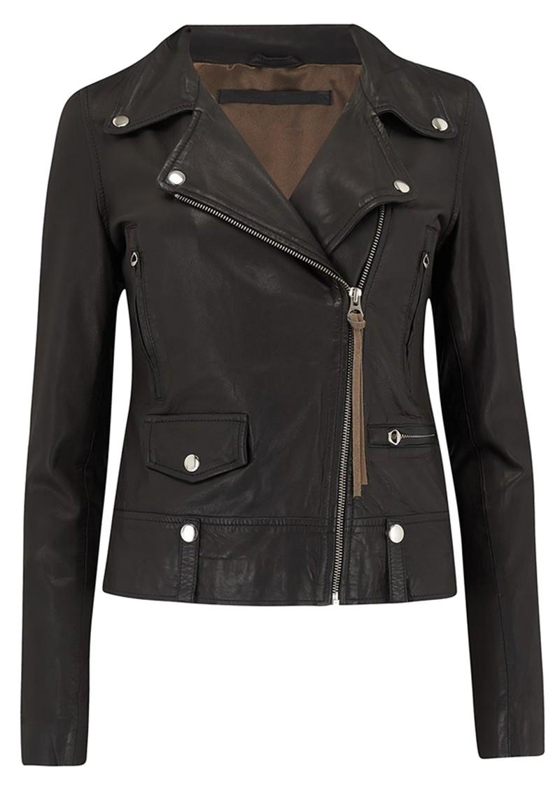 MDK Seattle New Thin Leather Jacket - Black main image