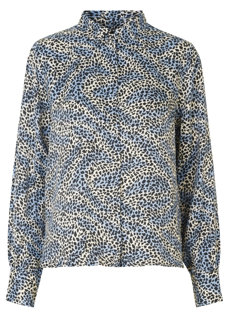 LEVETE ROOM Isa Printed Shirt - 209 Blue main image