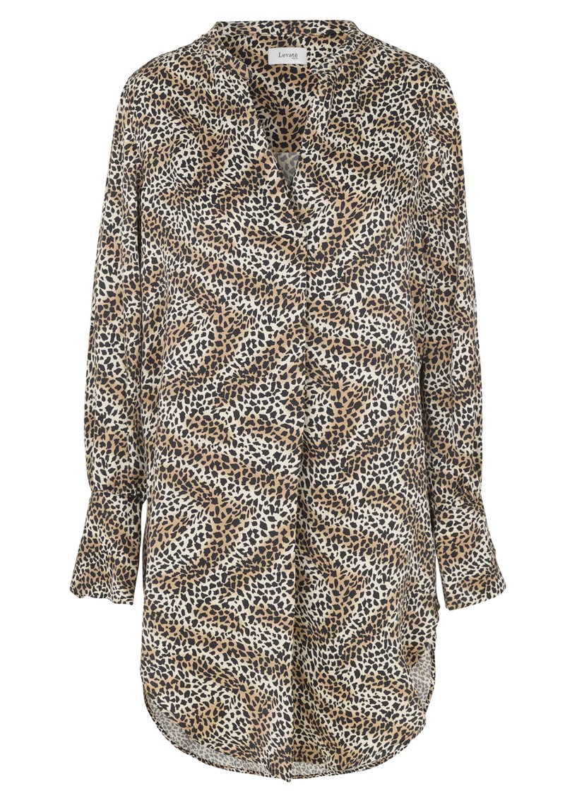 LEVETE ROOM Isa Printed Shirt Dress - 999 Leopard main image