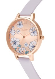 Olivia Burton Groovy Blooms Sunrays Demi Dial Watch - Palma Violet & Rose Gold
