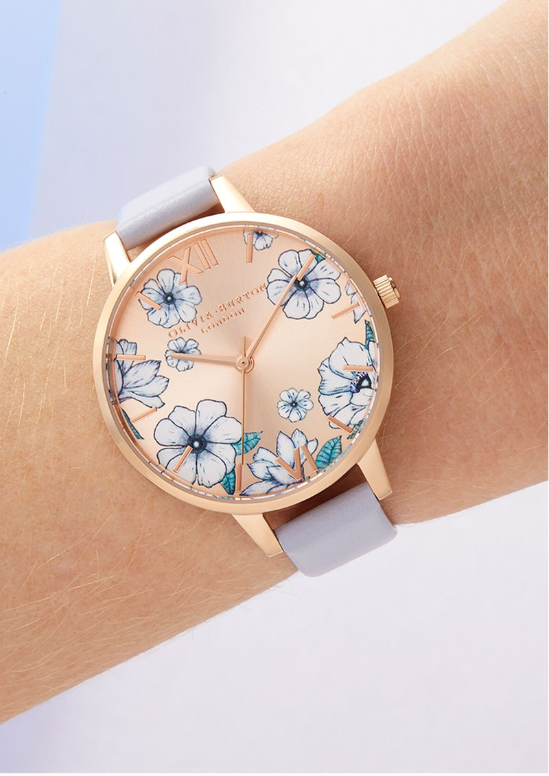 Olivia Burton Groovy Blooms Sunrays Demi Dial Watch - Palma Violet & Rose Gold main image