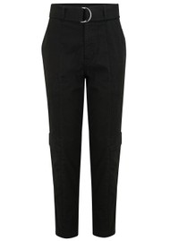 J Brand Athena  Surplus High Rise Cigarette Pant - Black