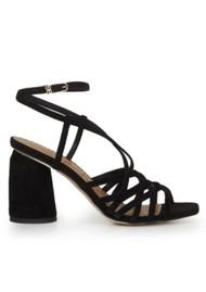 Sam Edelman Daffodil Block Heel Sandal - Black Suede