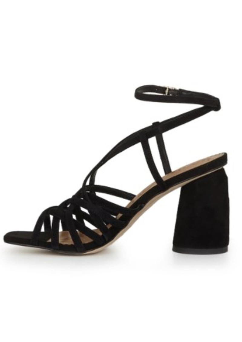 Sam Edelman Daffodil Block Heel Sandal - Black Suede main image