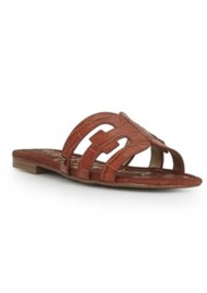 Sam Edelman Bay Leather Sandals - Mahogany